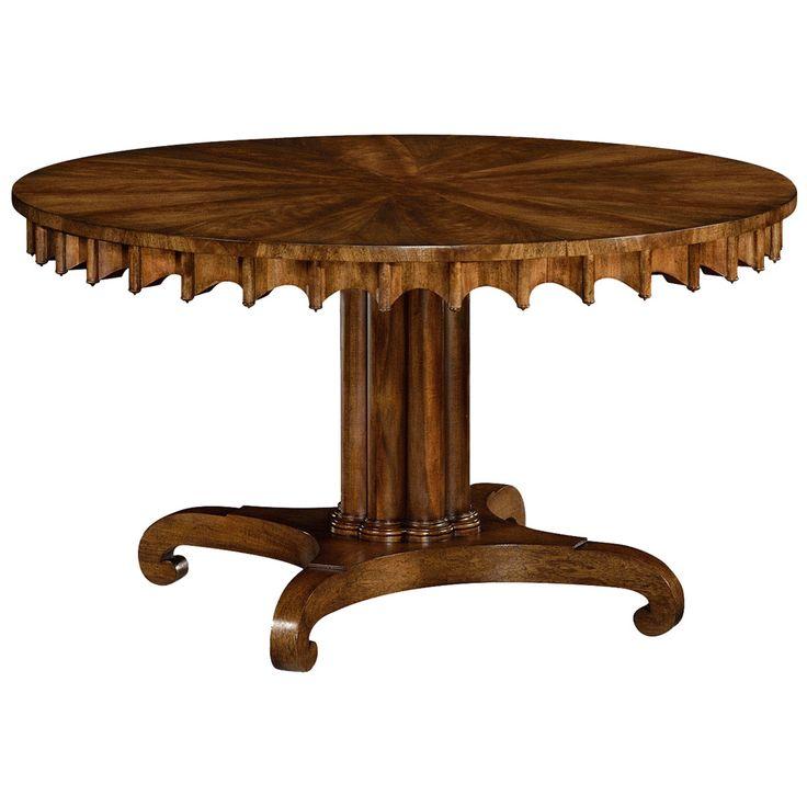Jonathan Charles 0 Longwood Round-To-Oval Grey Mahogany Dining Table