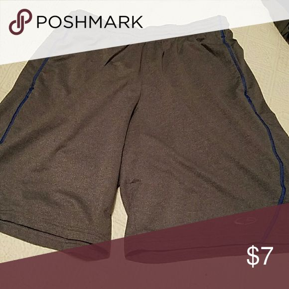 Men's Gray Athletic Shorts C9 brand gray athletic shorts with blue accents C9 Shorts Athletic