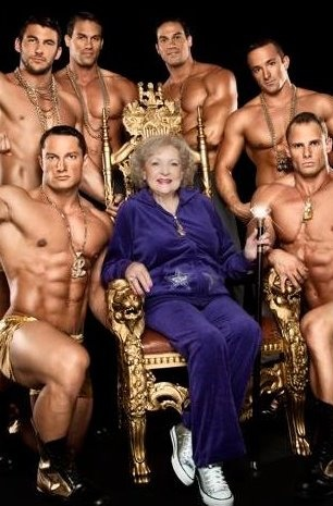 Betty White - Still hot, This is a ridiculous picture, Betty White is one of our wonders, why put her in such a picture...They did it to Mae West and she wanted it....But, I bet Betty knew it was wrong.....Pardon me, if you like it...I love Betty..... Saved from jon-doloresdelargo at blogspot