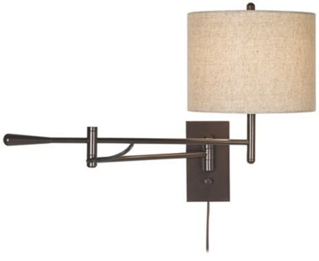 Plug-in Bronze Boom Swing Arm Possini Euro Wall Lamp - #EUP1739 - Euro Style Lighting
