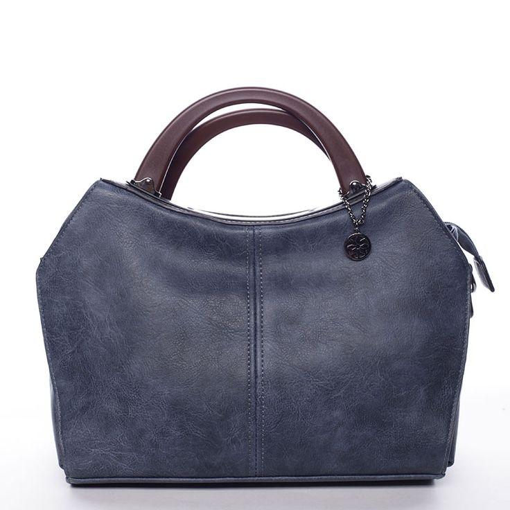 Dámská modrá kabelka vhodná i pro nošení přes rameno. #ženy #móda #dárky #kabelky #kabelka #modrá #přesrameno