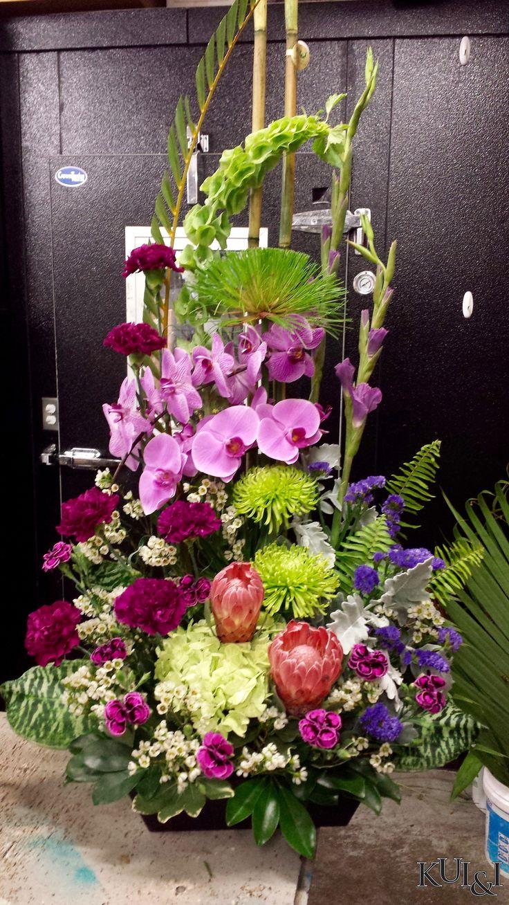 76 best sympathy flower arrangements images on pinterest stylized funeral arrangement with phalaenopsis orchids kuiandiflorist kuiandi izmirmasajfo Choice Image