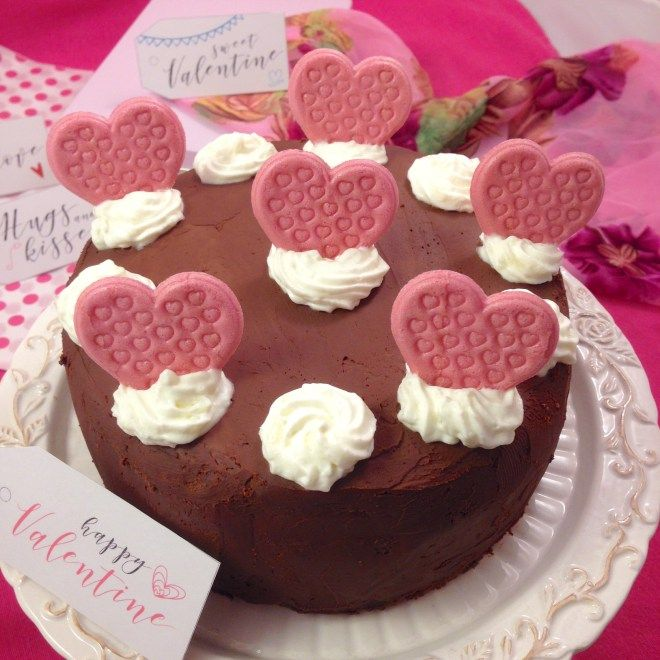 Pink velvet con ganache al cioccolato