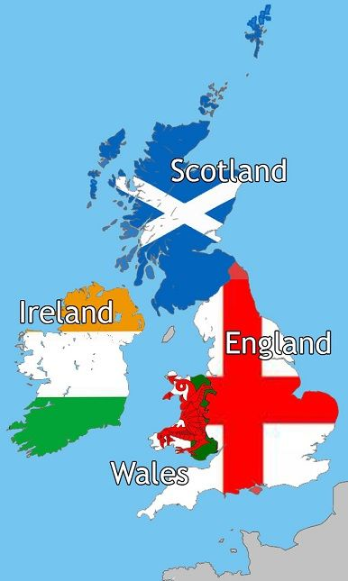 map of great britain scotland and wales