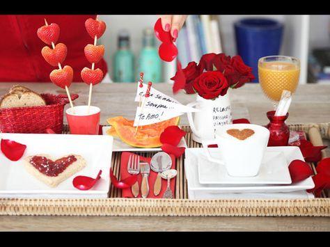 Como decorar a mesa do café da manhã para o Dia dos Namorados