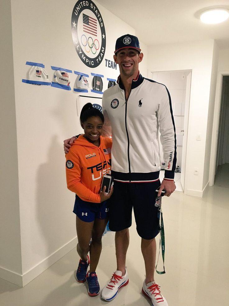 Simone Biles Michael phelps Rio 2016