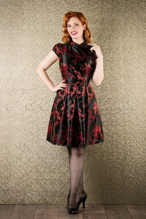 Kinder Tapeten Auf Rechnung : Vixen Black Red Chinese Blossom Dress 102 14 16295 20151116 0004V