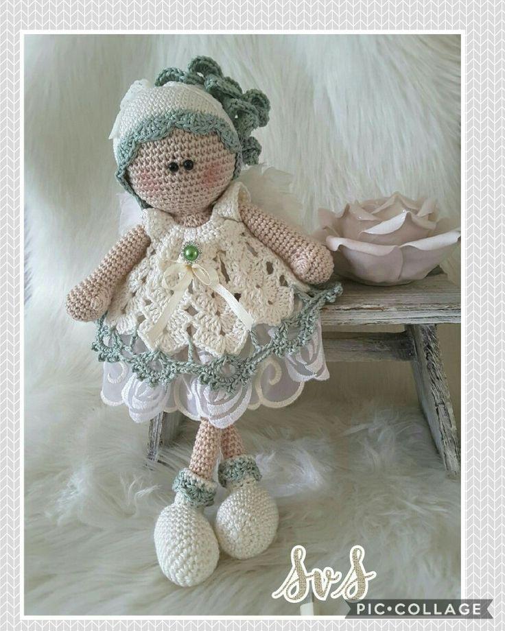 En nog een engel gemaakt, een mix van mijn patronen Gina en Nienke