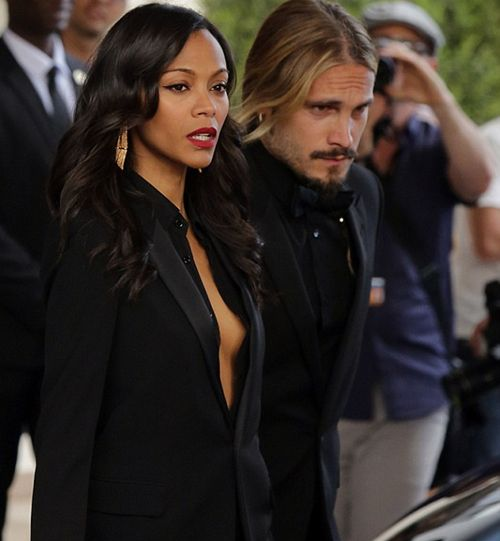 Zoe Saldana Gets Sexy In Black At Cannes Film Festival, Gets Matchy Matchy With Husband Marco Perego - The Young, Black, and Fabulous