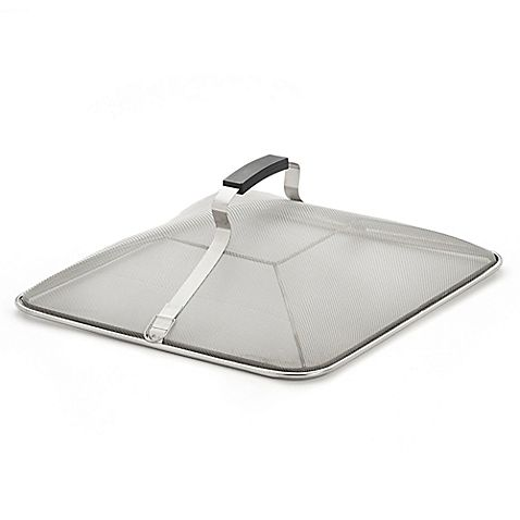 The Stainless Steel Square Splatter Screen helps release steam and water vapor while cooking without oil or food splattering on your stovetop. This convenient screen features a fine stainless steel mesh frame and features a stay-cool handle.