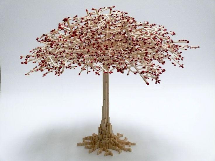 Cherry Tree, made out of matchsticks - Erik Plambeck