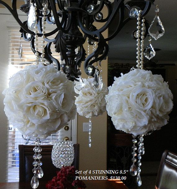 STUNNING Pale Ivory Wedding Pomanders with by Elegantweddingdecor, $32.00