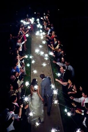 Give out sparklers as party favors :31 Impossibly Fun Wedding Ideas | buzzfeed