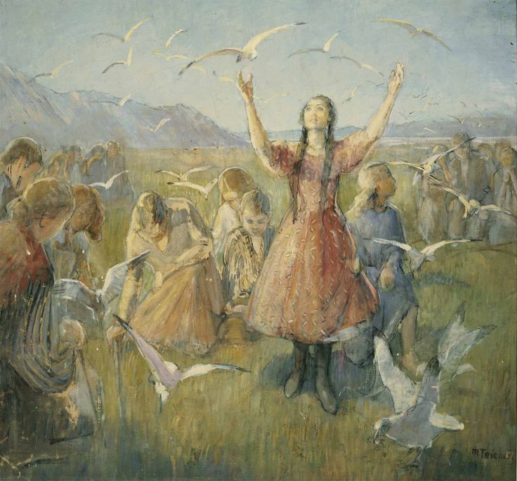 Betty and the Seagulls,  Minerva Teichert