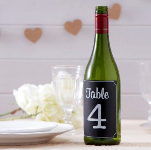 Style Your Party A vintage affair - Tafelnummers flessenlabels