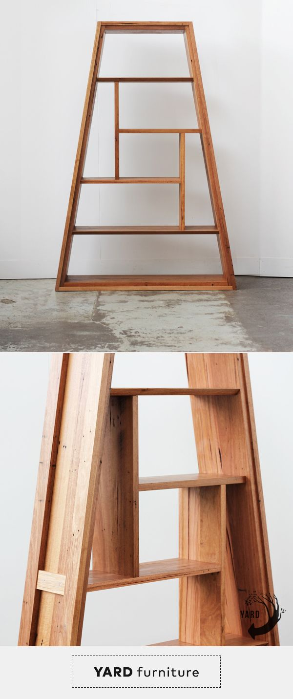 YARD Furniture's Versatile & modernist Eiffel Shelf (Mini). Made from salvaged timber in Melbourne.