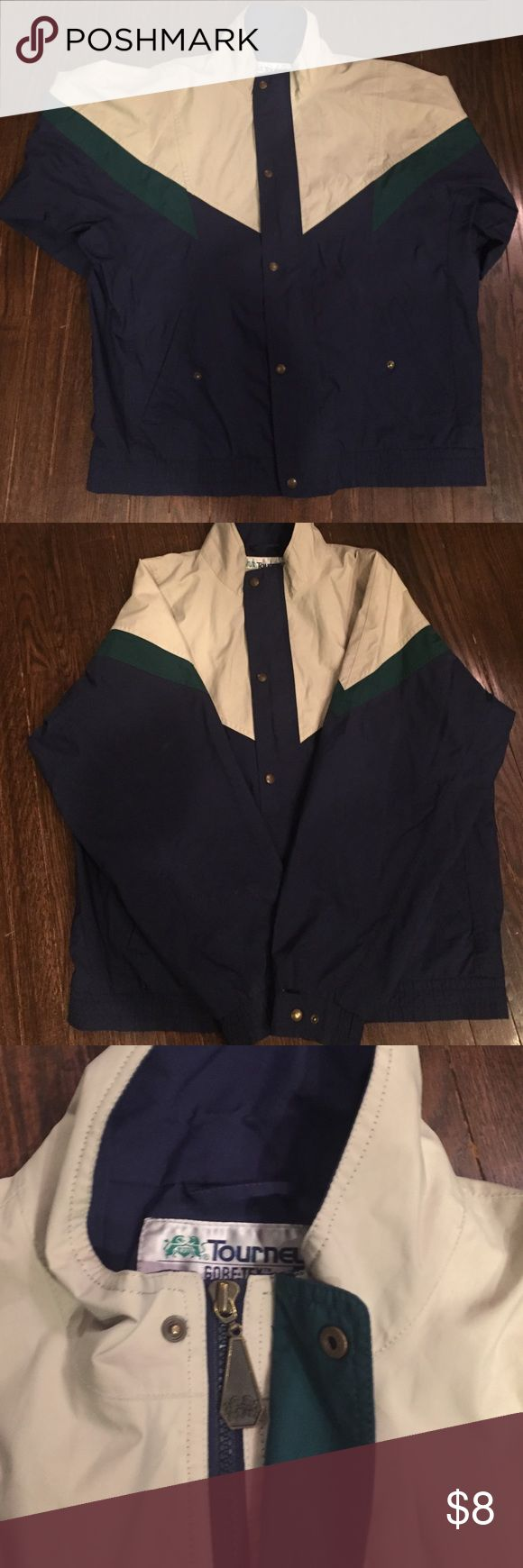 Rain jacket- excellent shape Rain jacket or golf jacket. In fantastic shape. Bargain price. Check out my rating and reviews- my clothes always exceed expectations. Smoke and dog free home. Buy with confidence. Jackets & Coats