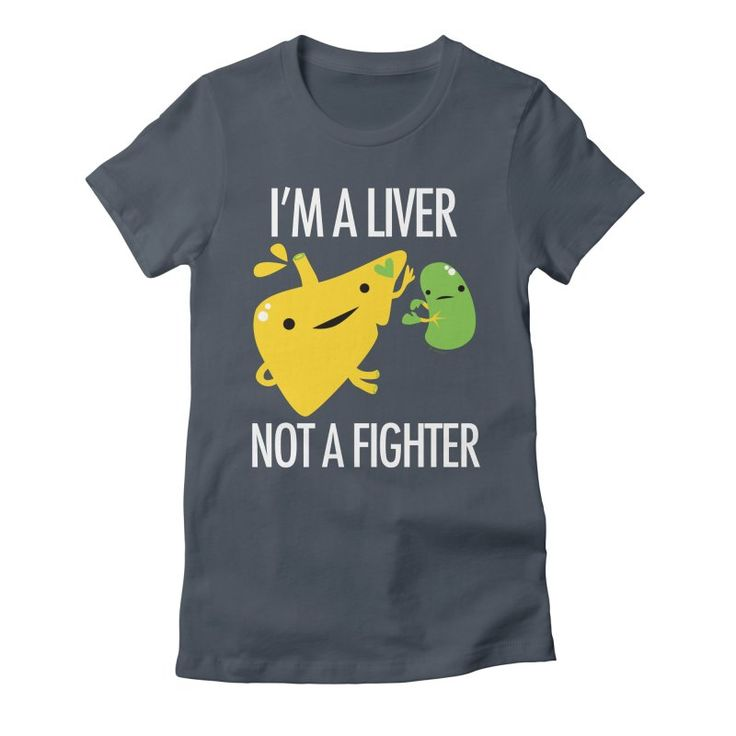 I'm a Liver Not a Fighter Women's Fitted T-Shirt by I Heart Guts