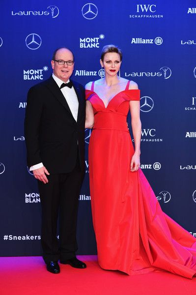 Prince Albert of Monaco and his wife Charlene of Monaco attended the 2017 Laureus World Sports Awards at the Salle des Etoiles,Sporting Monte Carlo on February 14, 2017 in Monaco. The Laureus Media Prize is attributed to people that have made an impact to the world of sport.