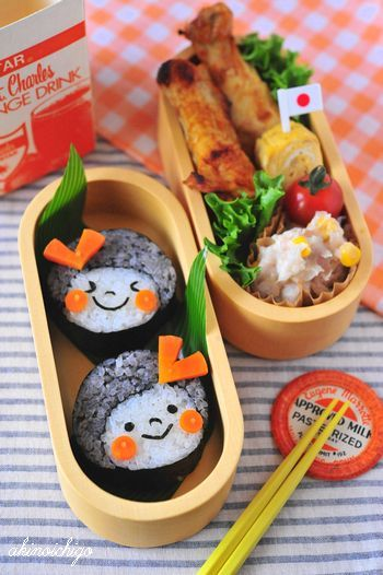 Kawaii Sushi Girls Kyaraben, Character Bento Lunch by Akinoichigo さすが^o^