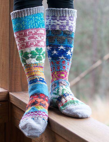 Ravelry: WoollyWoof's Scrap Yarn Sock Advent Calendar 2015
