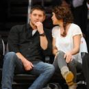 Danneel Harris at Lakers Game with husband Jensen Ackles in Los Angeles, CA - Nov 24 2010 - FamousFix