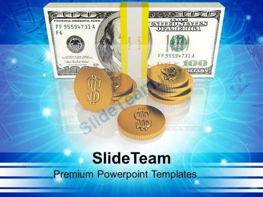 1013 Business Financial Success Dollar Money PowerPoint Templates