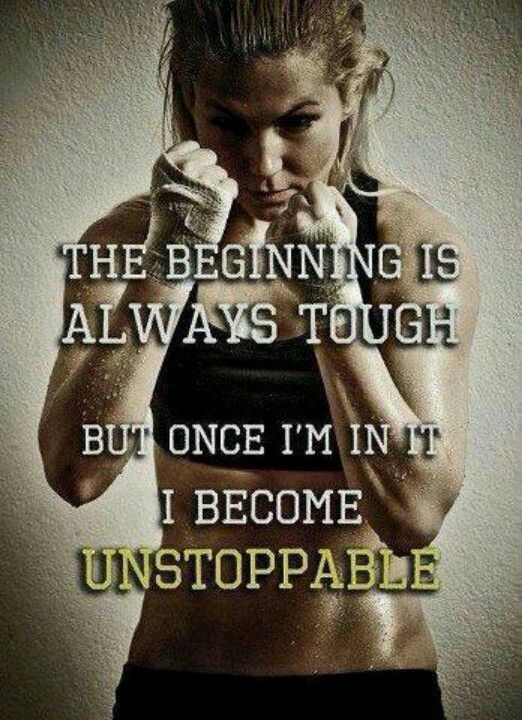 """""""the beginning is always tough, but once I'm in it, I become unstoppable."""" so true for everything, but especially boxing"""