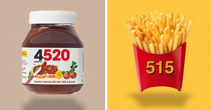 Food Logos Redesigned To Show Calorie Count | Bored Panda