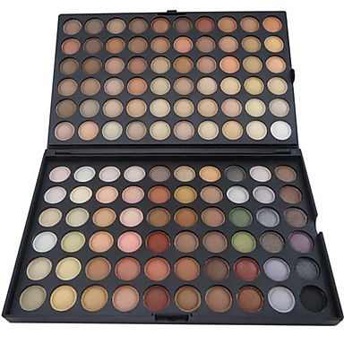 120 kleuren oogschaduw professionele matte / droog poeder make-up cosmetische palet smokey make-up / party make-up 1772231 2016 – €9.79
