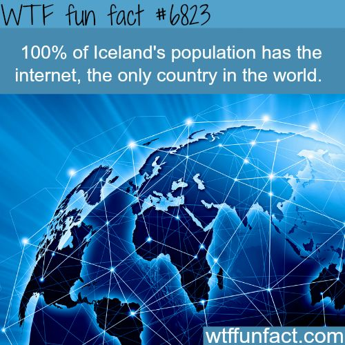 The country with the highest internet users percentage - WTF fun fact