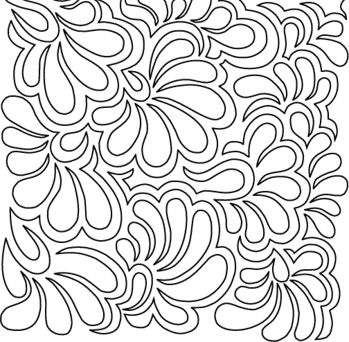 feather flower pantograph by darlene epp