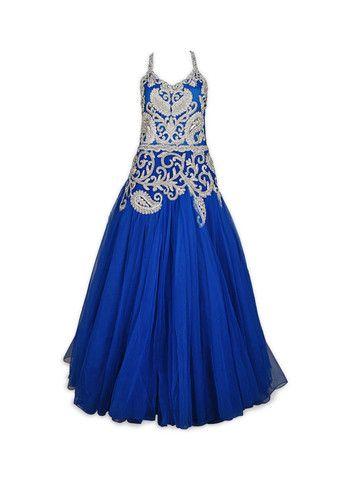 Blue color Indo Western Gown – Panache Haute Couture