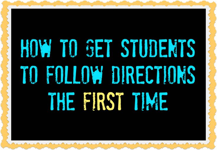 Fantastic tips to help students follow directions so you don't have to repeat yourself a million times. The magic word idea is a great technique to try.