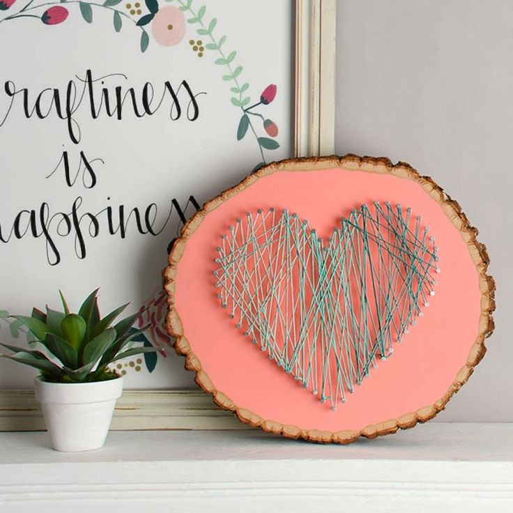 easy string art tutorial - how to make string art on a basswood plaque - personalized gifts