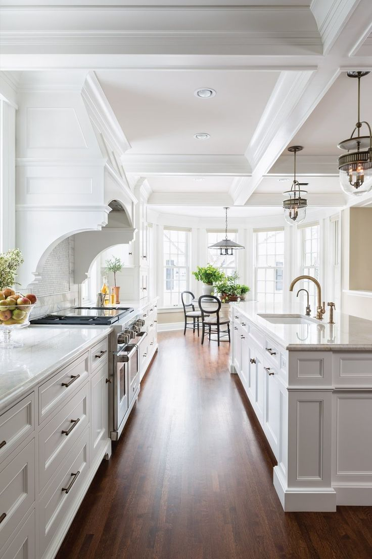 In A Hamptons Kitchen Design, The Moulding And Millwork Details Are Very  Important. As