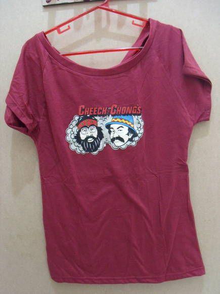 Camiseta Cheech e Chong 100% algodão Tamanho único R$ 60,00  www.elo7.com.br/dixiearte