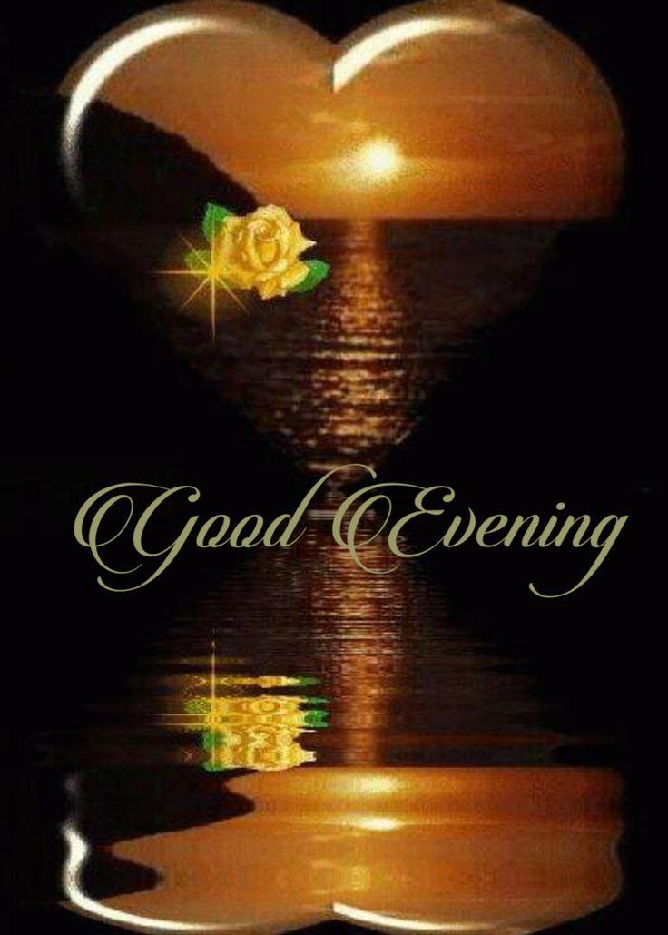 Открытки добрый вечер на английском языке для мужчин