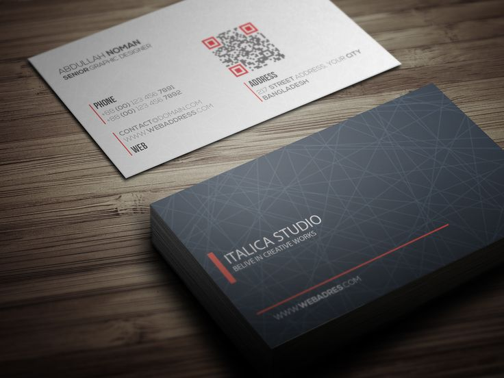 Business Card Template on Behance