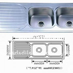 Double Bowl Kitchen Sink Size