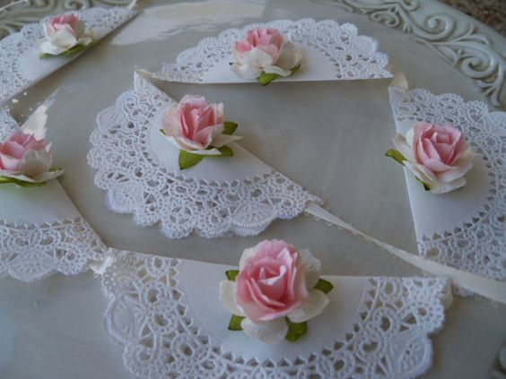 Birthday Party Decoration Shabby Chic Banner for by JeanKnee