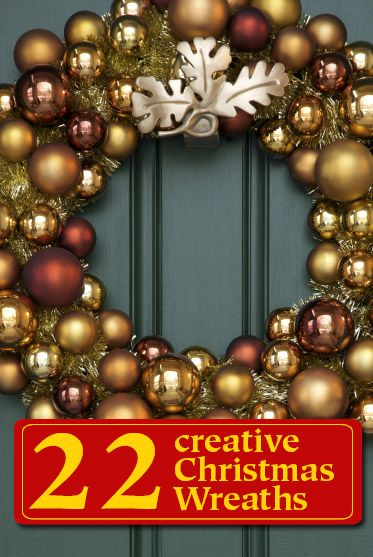 DIY christmas wreaths- LOVE THESE, especially he one made with coffee filters!