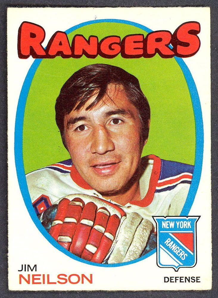 1971 72 Topps 112 JIM NEILSON EX-NM NEW YORK N Y RANGERS HOCKEY CARD #NewYorkRangers