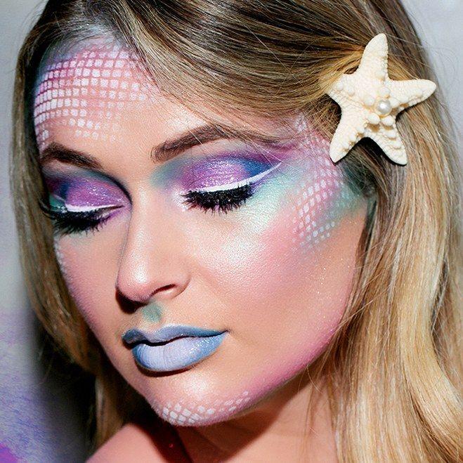17 Mermaid Makeup Ideas Guaranteed To Make A Splash On Halloween Mermaid Makeup Halloween Mermaid Makeup Tutorial Halloween Makeup Looks