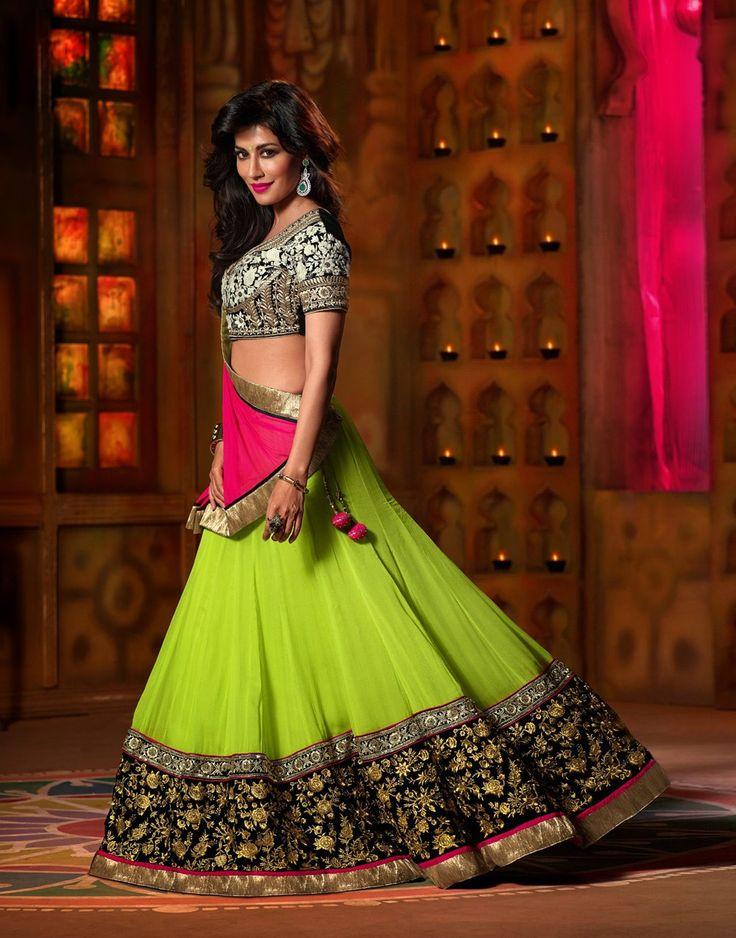 Green Chitrangda Singh Georgette Lehnga Choli . Shop at - http://www.gravity-fashion.com/green-chitrangda-singh-georgette-lehnga-choli-gf9140702.html