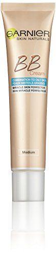 Garnier BB Cream Miracle Skin Perfector / get�nte Tagescreme 5 in 1 mit Matt-Effekt, �lfrei / Farbe: Mittel bis Dunkel / f�r fettige und Mischhaut, 1er Pack - 40 ml