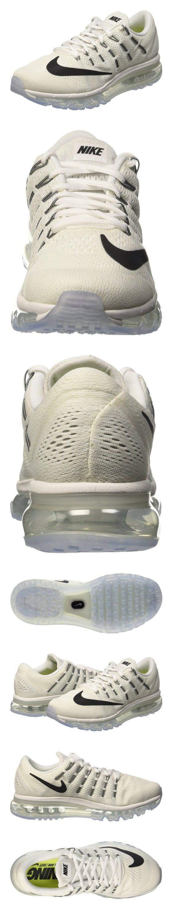 $249.98 - Nike Women's Air Max 2016 Summit White/White/Black Mesh Running Shoes 8.5 M US #shoes #nike