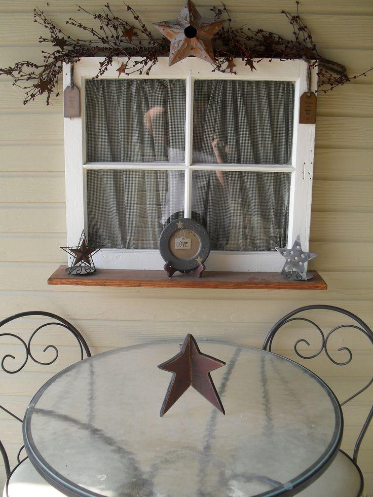Primitive porch, old window