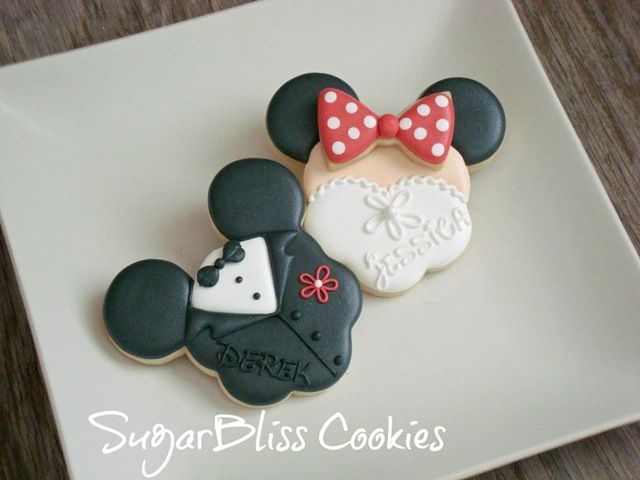Mickey and Minnie Wedding Cookies