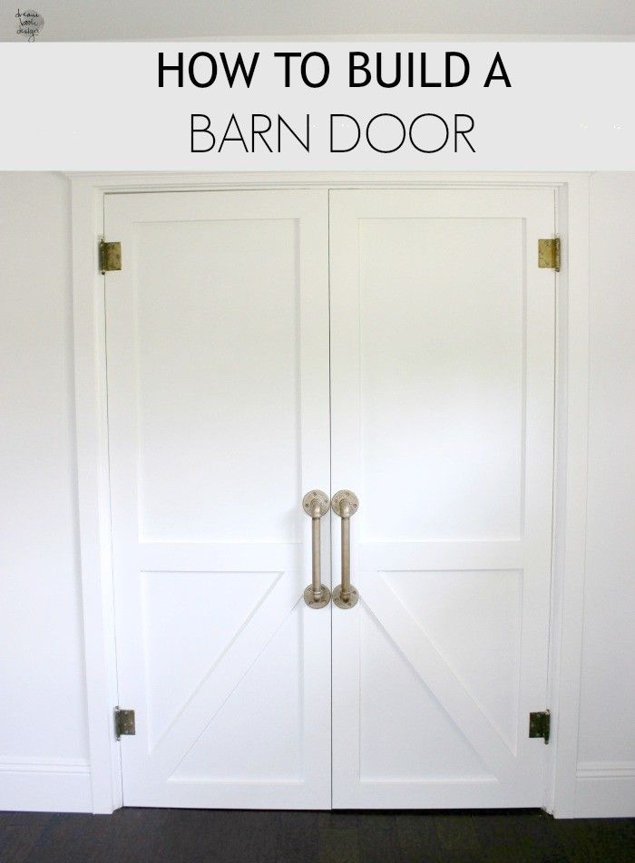 How to build a Barn Door. A full DIY tutorial on how to build an awesome Barn Door for your house on dreambookdesign.com